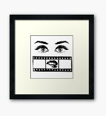 Eyes Film Framed Print