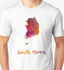 South Korea in watercolor Unisex T-Shirt