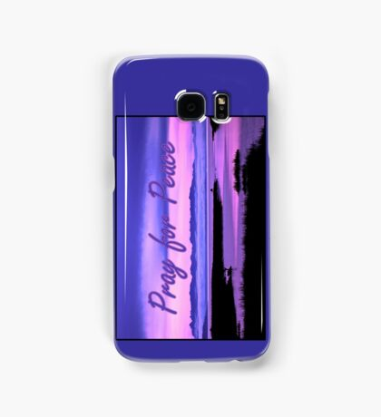 pray for peace (pink scenic) Samsung Galaxy Case/Skin