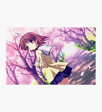 Nagisa Winter Uniform Colour - Clannad Photographic Print