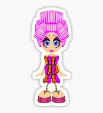 Flip-flop dress doll Sticker
