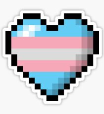 Transgender Pixel Heart Sticker