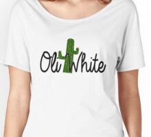 Oli White Cactus Tee Women's Relaxed Fit T-Shirt