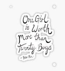 Peter Pan- One Girl Sticker