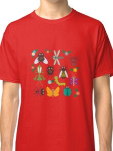 Insects on white Classic T-Shirt
