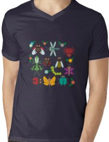 Insects on white Mens V-Neck T-Shirt