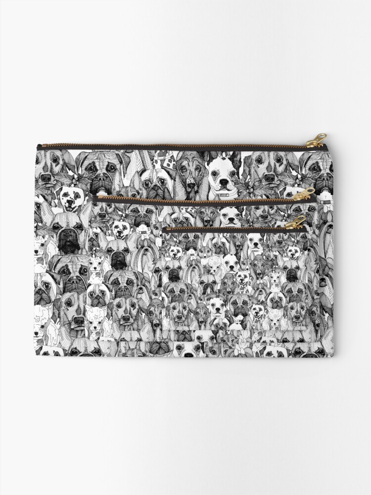 Alternate view of christmas dogs Zipper Pouch