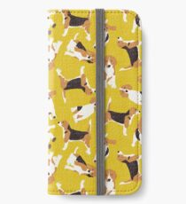 beagle scatter yellow iPhone Wallet