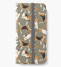 beagle scatter stone iPhone Wallet/Case/Skin
