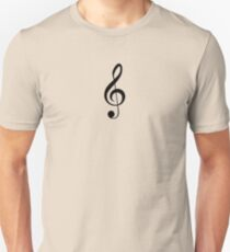 Treble Clef Musical Musician Baby Jumpsuit T-Shirt Bedpsread Duvet Sticker Unisex T-Shirt