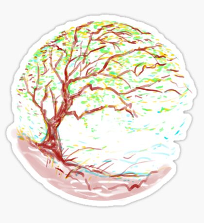 impressionist tree Sticker