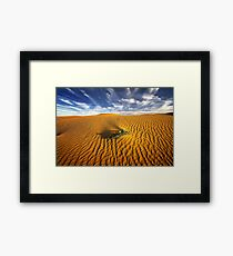 Dune in morning light - perry sand dunes Framed Print