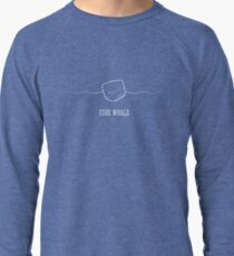 Cube Whale (outline) Lightweight Sweatshirt