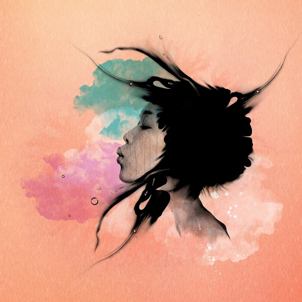 Psychedelic Blow Japanese Girl Dream by Pepe Psyche