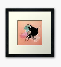 Psychedelic Blow Japanese Girl Dream Framed Print