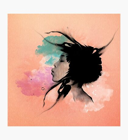 Psychedelic Blow Japanese Girl Dream Photographic Print