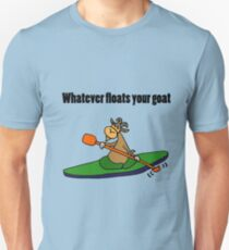 Cool Funny Kayaking Goat  Unisex T-Shirt