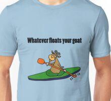 Cool Funny Kayaking Goat  Unisex T-Shirt