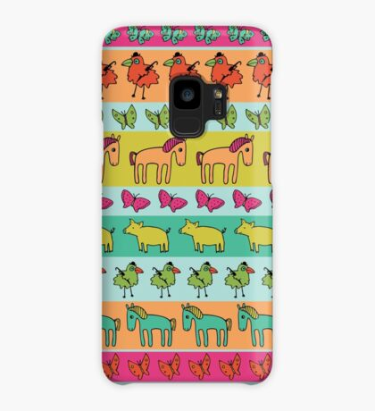 Strolling Pigs and Ponies - Peach Melba - fun pattern by Cecca Designs Case/Skin for Samsung Galaxy