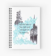 Second star to the right and straight on 'til morning  Spiral Notebook