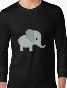 Cute Gray Baby Elephant Long Sleeve T-Shirt
