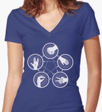 paper scissors stone Women's Fitted V-Neck T-Shirt