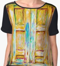 Tuscany Shutters Women's Chiffon Top