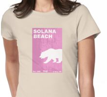 Solana Beach. Womens Fitted T-Shirt