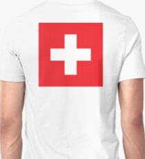 Swiss, Switzerland, Swiss Flag, Flag of Switzerland, White Cross, Swiss Confederation, T-Shirt