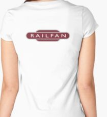 RAILFAN, RAIL, TRAINSPOTTER, enthusiast, Railway, Train, Train spotter, BRITISH RAILWAYS, SIGN Women's Fitted Scoop T-Shirt