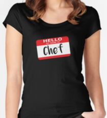 Hello My Name is Chef Decal Women's Fitted Scoop T-Shirt