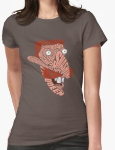 Nigel Thornberry Typography Womens Fitted T-Shirt