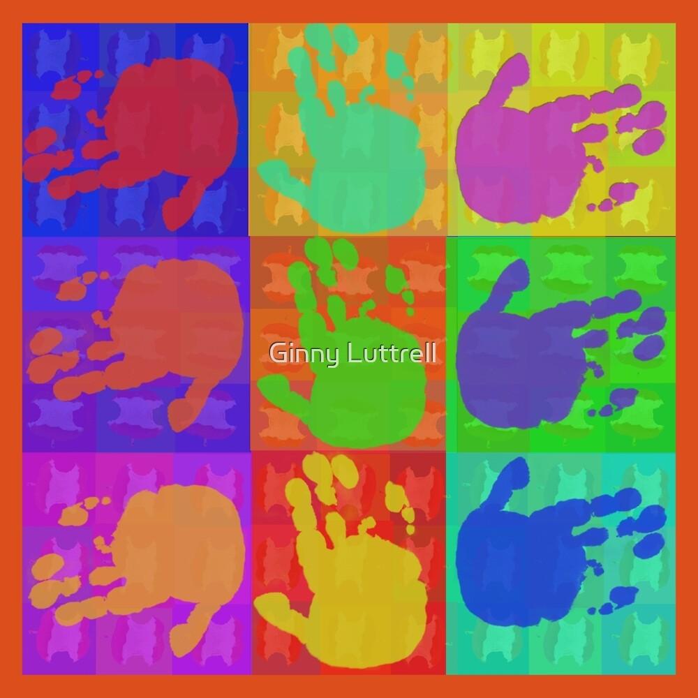 Hands Pop Art by Ginny Luttrell