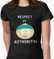 Cartman - Respect my authority Womens Fitted T-Shirt