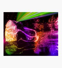 Neon Reflections Photographic Print