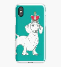 Dachshund In A Crown iPhone Case