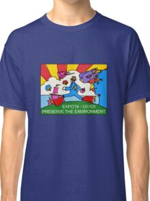 Psychedelic US Stamp Classic T-Shirt
