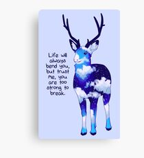 """You Are Too Strong to Break"" Night Sky Deer Canvas Print"