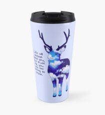 """You Are Too Strong to Break"" Night Sky Deer Travel Mug"