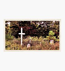 """"""" 'THE CEMETERY' """", a Series, #13, Hinds Valley Cemetery Clothed in Nature's Garment """"... prints and products Photographic Print"""