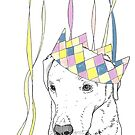 Party Animal ! Labrador by Adam Regester