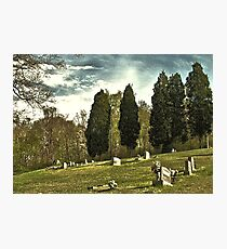 """"""" 'THE CEMETERY' """", a Series,  #14, A Countryside Cemetery """"  Photographic Print"""