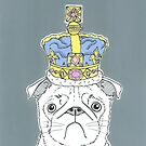 Pug In A Crown by Adam Regester