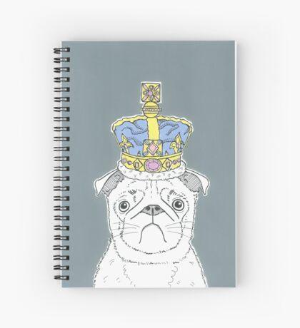 Pug In A Crown Spiral Notebook