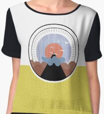 Birds Flying Over the Mountain Sunset - Alternate Layout Women's Chiffon Top
