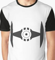 Minimal Tie Fighter Graphic T-Shirt