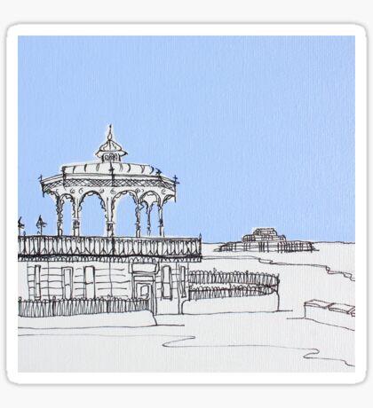 Brighton Bandstand & Pier ( Pale Blue ) Sticker