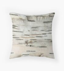 Birch Tree Bark Throw Pillow