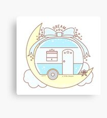 Dream Vintage Camper Trailer Canvas Print