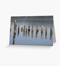 Pier Illusions  Greeting Card